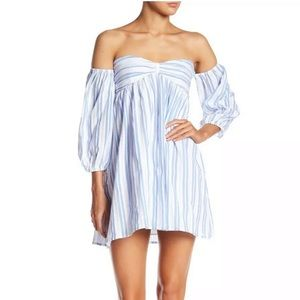 Romeo & Juliet Couture Striped Sweetheart Dress
